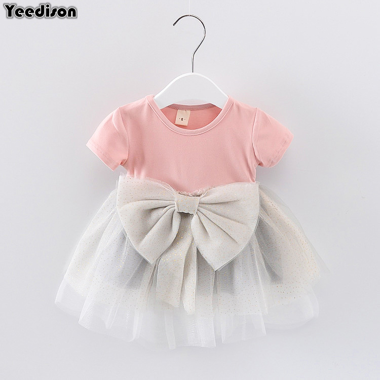 Cotton Baby Dresses 2018 Summer Newborn Princess Party Wedding Christening Dress For Baby Girl 1st Year Birthday Infant Outfits