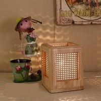 כיכר מנורת שולחן בר שולחן שליד המיטה חדר שינה מעץ יבוא תה מסעדה אווירה ילדי מתנה לחתונה המעודנת LU726247