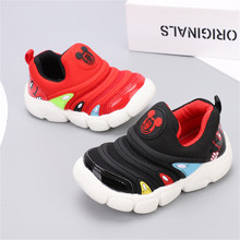 8df9d911d Обувь для малышей с принтом «Дисней Микки»; обувь для малышей; слипоны;  Tenis Infantil; Спортивная повседневная детская обувь; д.
