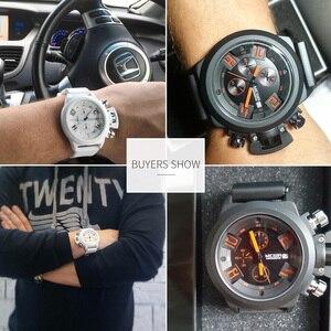 Image 4 - MEGIR מקורי שעון גברים ספורט קוורץ גברים שעונים הכרונוגרף שעון יד Relogio זמן שעה שעון Reloj Hombre Mens שעונים