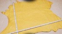 Желтый натуральная свинья зерна кожи кожа материал продажи на целый кусок