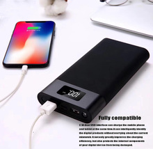 New 20800 mA Smart Display Charging Treasure Led Dual USB Output Metal Shell Mobile Phone