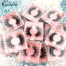 Colash falso occhio ciglia Naturali 100% fatti a mano di spessore Ciglia Finte di Estensione Molle sexy eye lashes Ciglia di Visone scatola Quadrata