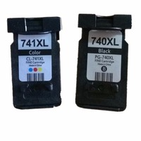 1 Set 2 Pcs Ink Cartridges For Canon PG 740 XL PG 740XL PG 740 PG740