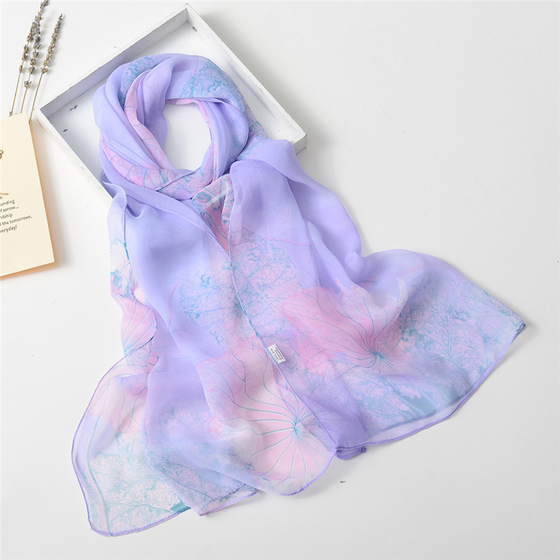 WATER PRINCESS Fashion Women Lotus Printing Bikini Cover Up Beach Pareo Lady Shawl Scarves Long Soft Wrap Scarf Swim Towel A30