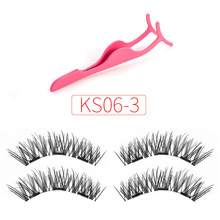 VICILEY 3d Magnetic Eyelash Extension with Eyelashes Tweezers profession lashes Clip Clamp Makeup Forceps Beauty Tool KS06-3-T