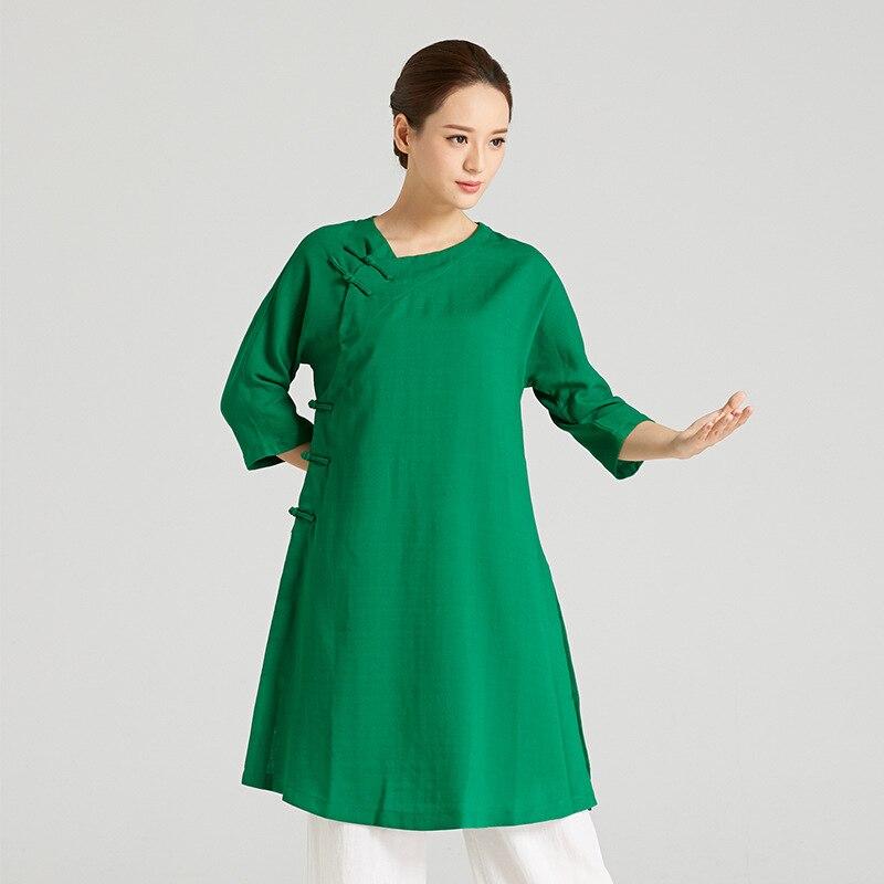 High-Quality Linen Wudang Female Gong Fu Robe