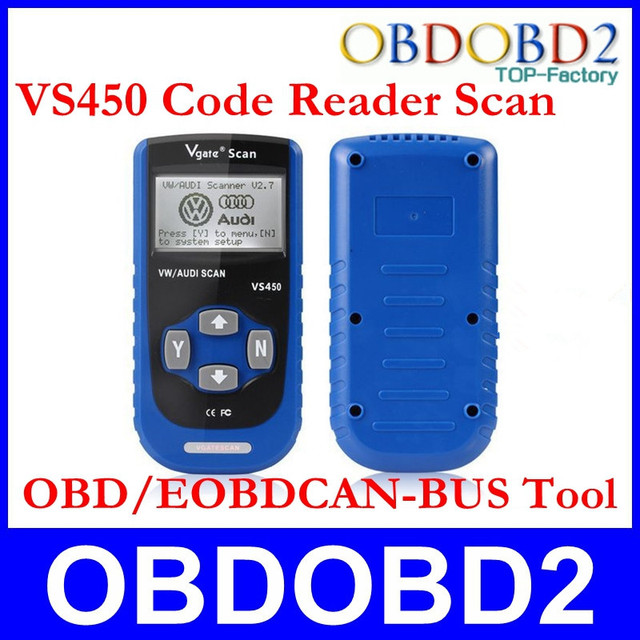 Free Shipping  Vgate VS450 Code Reader Professional Generic EOBD/OBD Reset Airbag ABS VAG CAN San Tool For VAG Series