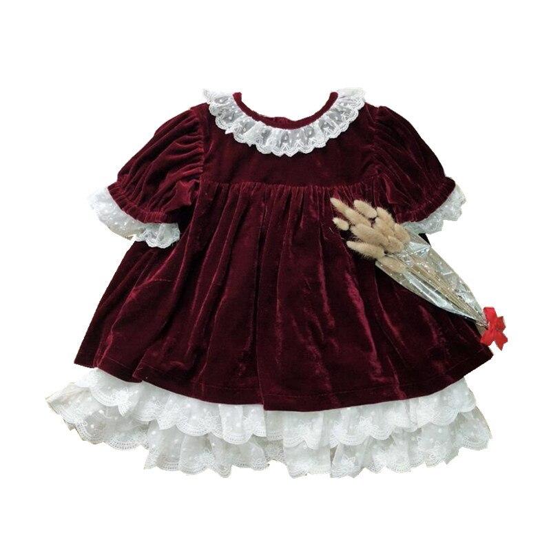 Y1852368 2018 Autumn Fashion Baby Girl Dress Girls Dress Lace Girls Princess Dress christmas santa Baby Dress Girls Clothes 2018 girls dress 100