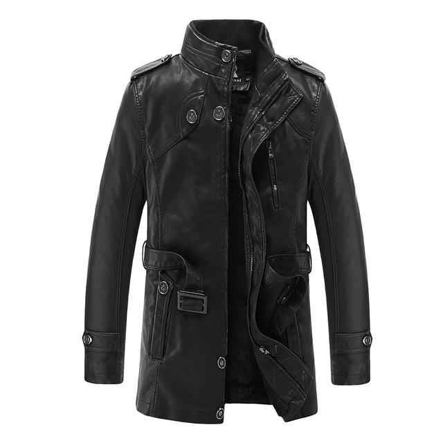 New Fashion Leather jacket, Genuine Leather, Mandarin Collar, Coat Male, Leather Jacket Men, Mens Leather Jackets And Coats