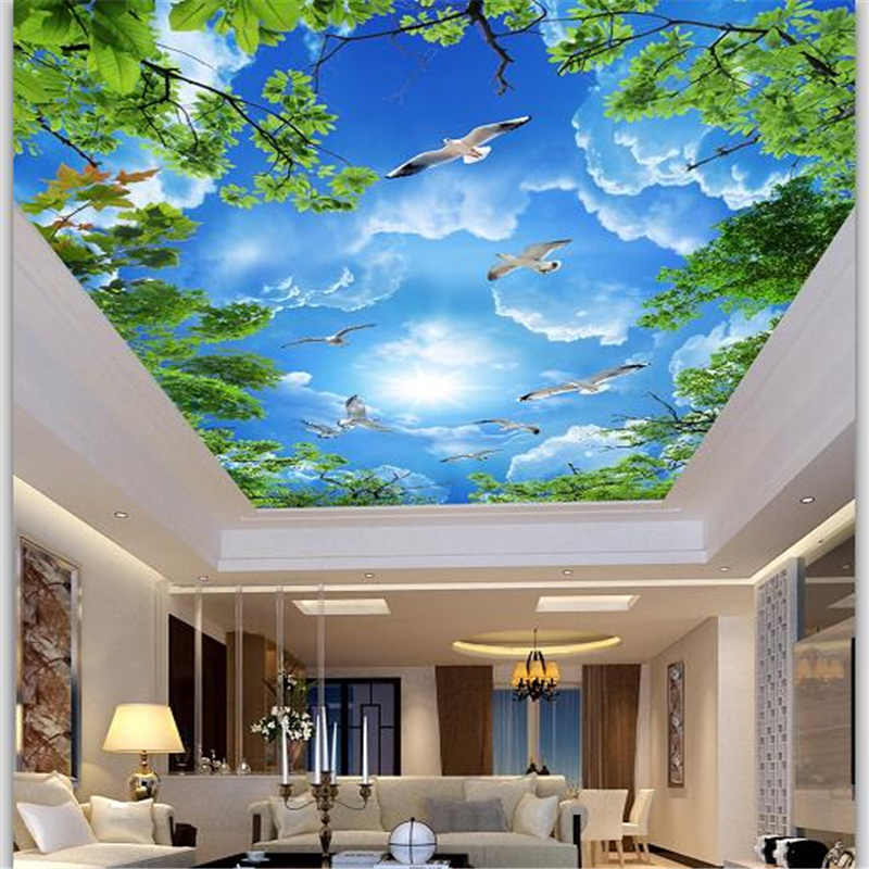 Wellyu Custom Oboi Large Wallpaper 3d Atmosphere Aesthetic Blue