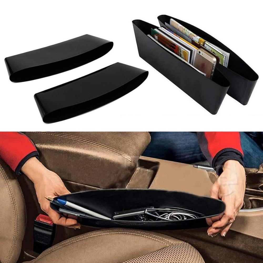 2pcs/Set Car Seat Gap Filler Organizer Drop Catcher Pocket Between Console Car-Styling Seats Holder Storage Car Accessries(China)
