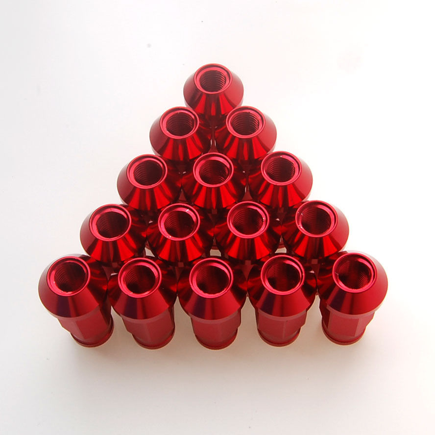 BBQ @ FUKA 20ks Aluminium Car Red M12 x 1,5MM Wheels Screw Tuner Lug Nuts Kit Fit for Civic MDX Corolla Camry
