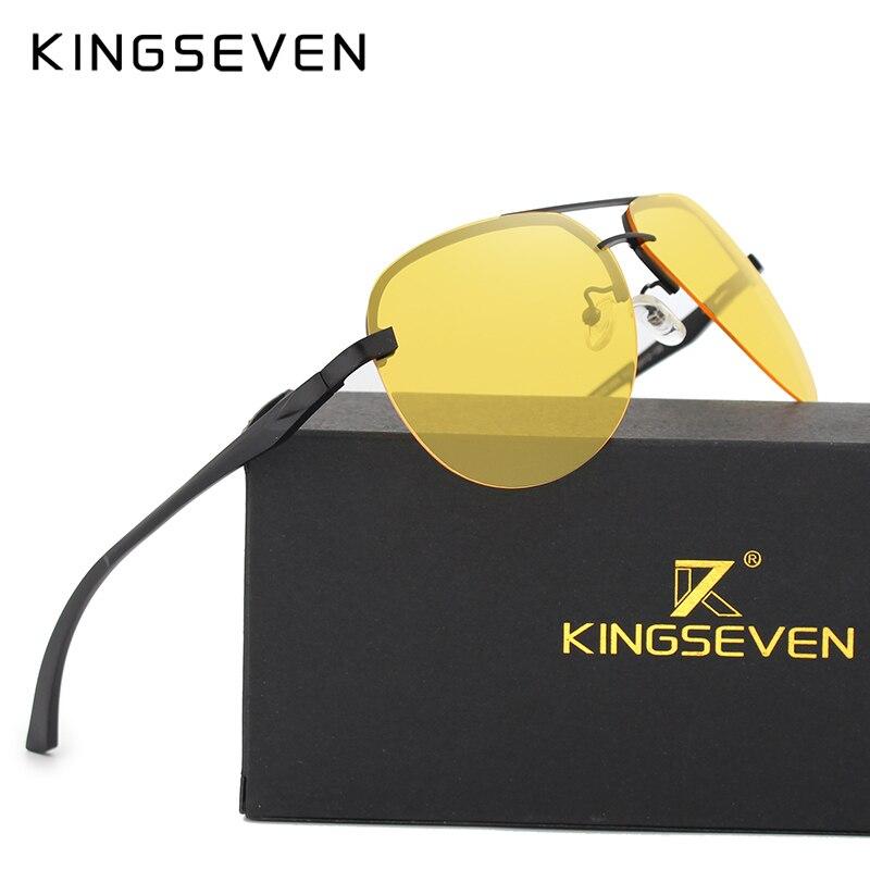 KINGSEVEN Polarized Night Vision Sunglasses Mens Original Box Goggles Women Designer Leisure Glasses Oculos De Sol Eyewea