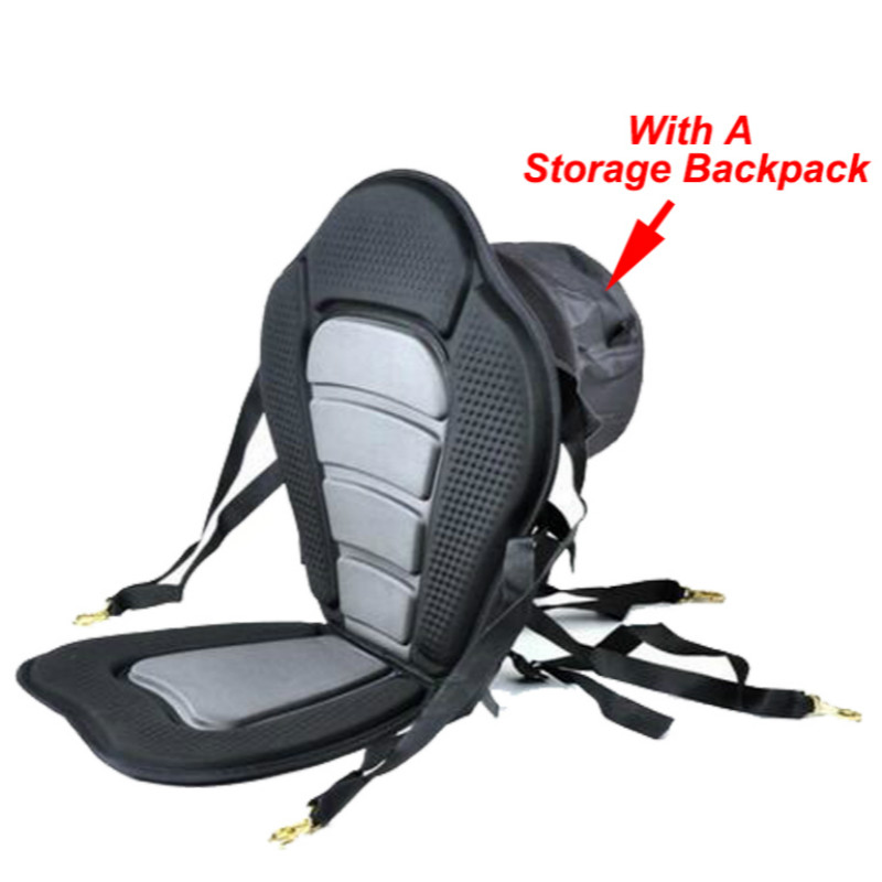 Adjustable Canoe kayak Backrest Seat Inflatable Boat Seat Storage Backpack Cushion Rowing Fishing PVC Boat Accessories Marine