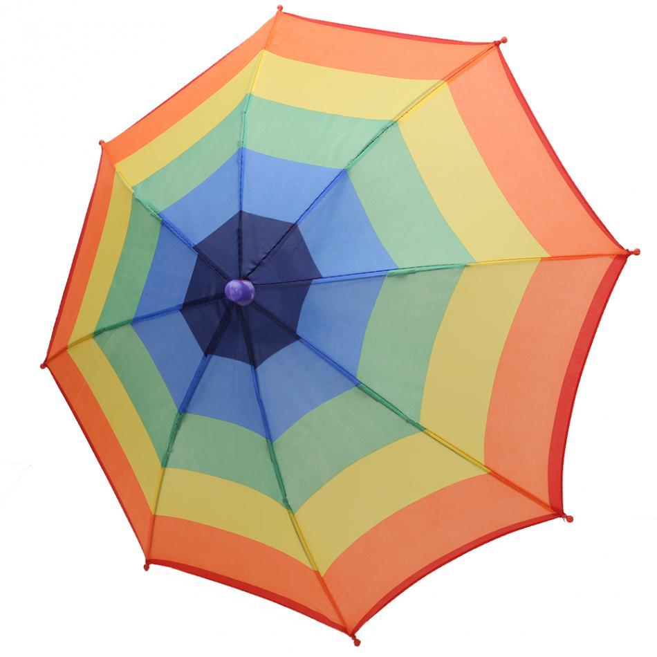 Pieghevole Ombrello Pioggia Protezione Del Cappello Headwear Ombrello per  la Pesca Escursionismo Campeggio Spiaggia Testa Cappelli Outdoor Sports Sun  ... 12dcb459f402