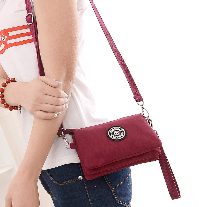 856efbc0055b 2016 clutch bag women messenger bags casual mini crossbody bag for girls  waterproof nylon ladies handbags female high quality-in Shoulder Bags from  Luggage ...