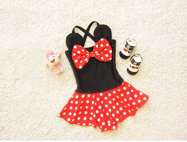 6ea2988e9d 2016 Baby Swimwear Lovely Minnie Mouse Baby Kids Girls Bikini Swimsuit New  Summer Biquini Infantil Hot Sale 1-6Y