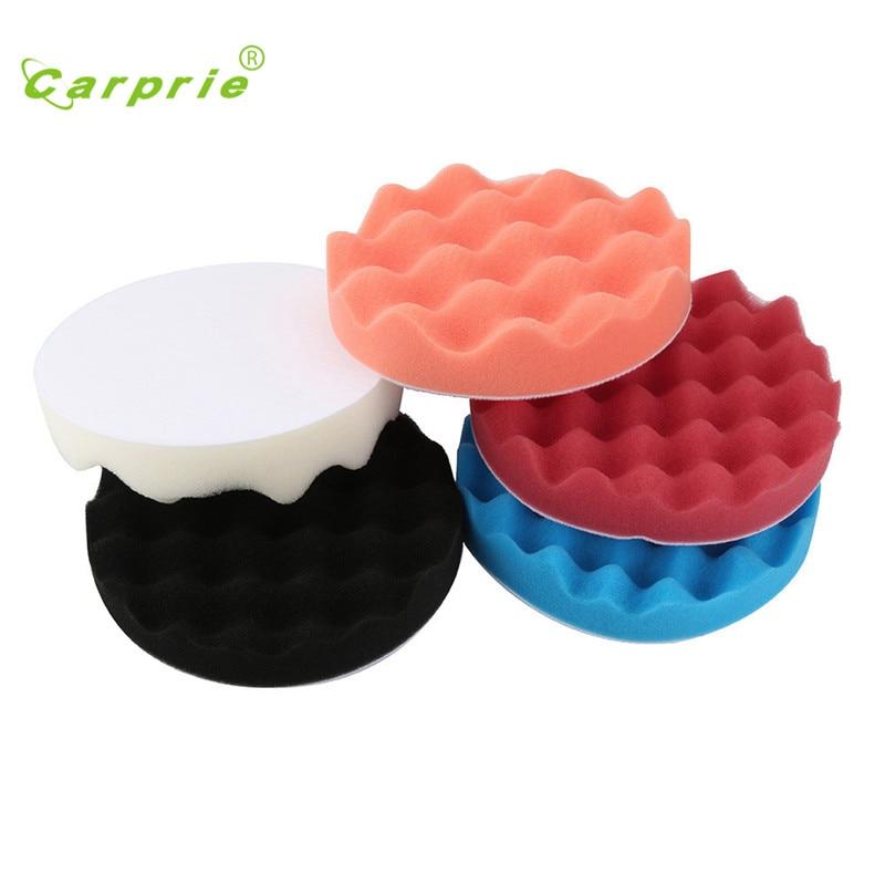 Sponge Waxing 5pcs 6Inch Car Polishing Wash Washing Cosmetic Buffing Pads Kit Esponja de pulido styling 17sep1
