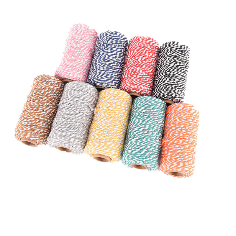 100meters/roll Cotton Bakers Twine String Cotton Cords Rope for DIY Handmade Christmas Gift Packing Craft Decoration
