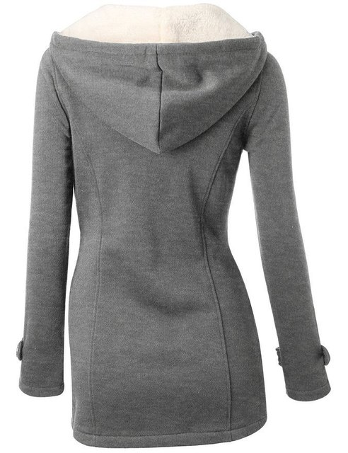 Winter Jacket Women Hooded Winter Coat Fashion Autumn Women Parka Horn Button Coats Abrigos Y Chaquetas Mujer Invierno 4