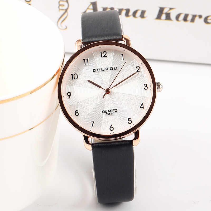adc52f7f8 ... 2019 New Women Exquisite Dial Design Bracelet Quartz Watch Ladies  Simple Fashion Casual Leather Wristwatch Women's