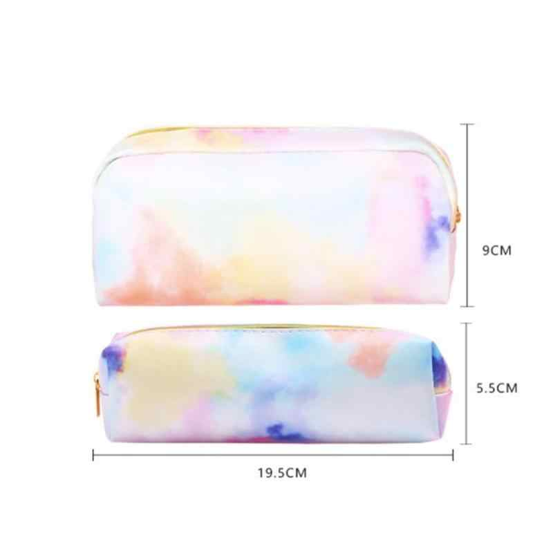 Menina coração sonho colorido série lápis saco de papelaria kawaii colorido lápis caso material escolar papelaria compõem presente