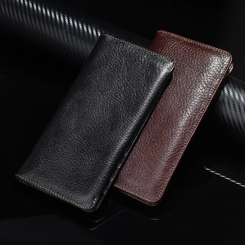 Genune Cow Leather Phone Case Hand Card Wallet POUCH For Nokia 6 Microsoft Lumia 950 XL