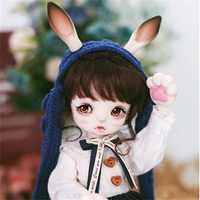 1/6 Aimerai Gina BJD SD Doll Rabbit Ear Body Model Baby Girls Boys High Quality Toys Shop Resin Figures Gifts