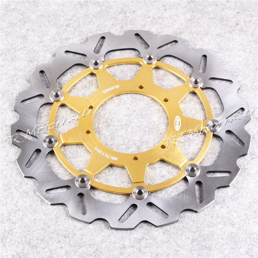 Stainless Steel Motorcycle Front Brake Disc Rotor For Honda CR125R/E CR250R/E 95-08 CRF450R 02-14 CR500E/R motorcycle front and rear brake pads for honda cr125r cr250r cr500r cr 125 250 500 r 1987 2001