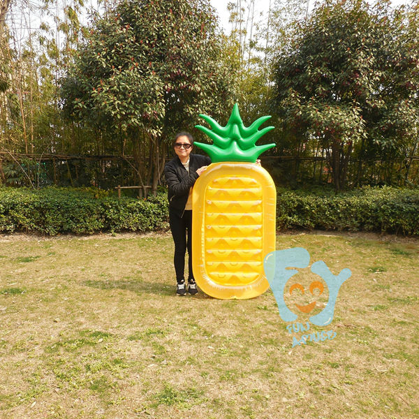 Swimming Float Inflatable Fruit Pineapple With Print Inflatable Float Mattress Inflatable Water Toys Pool Fun Raft smart home us black 1 gang touch switch screen wireless remote control wall light touch switch control with crystal glass panel