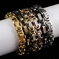 Factory Price! Men Bracelets Jewelry Punk Retro Byzantine Style Stainless Steel Bracelet Chains&Links 2016 Cool Party Gift,AB245