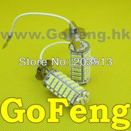 (10pcs/Lot) Led H3 102 LED SMD 3528 car led FOG LAMP light bulb white blue red yellow green Free shipping