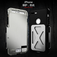 R JUST Metal Case Cover For iPhone 7 7 Plus iron Heavy Dust Metal Armor Bumper Case for iPhone 7 Plus i7 Protective Shell