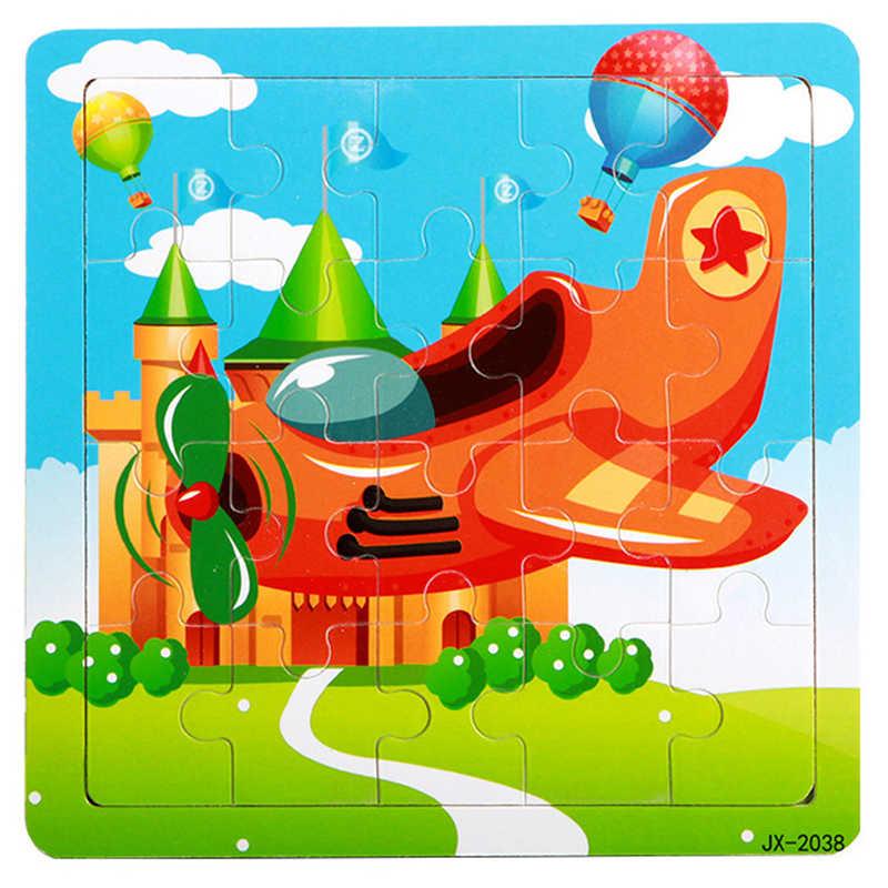 Высококачественный деревянный обучающий и Развивающий пазл для детей Детская обучающая игрушка, Прямая поставка игрушки самолеты Пазлы отличный веселый подарок