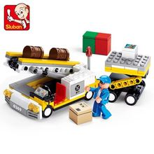 Lu Ban Building Block 0369 Aviation World Luggage Delivery Vehicle Airport Series Alpinia Oxyphylla Power Building Block Toys