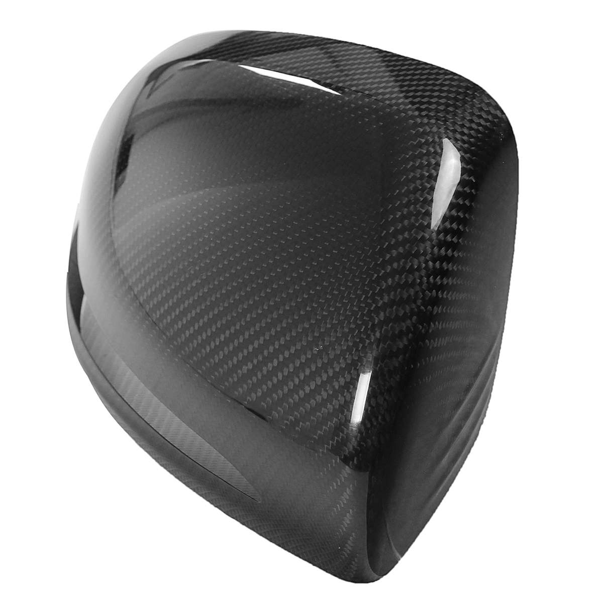 Add On Carbon Fiber Mirror Cover Caps For 2015-18 Mercedes Benz W205 C300 C400