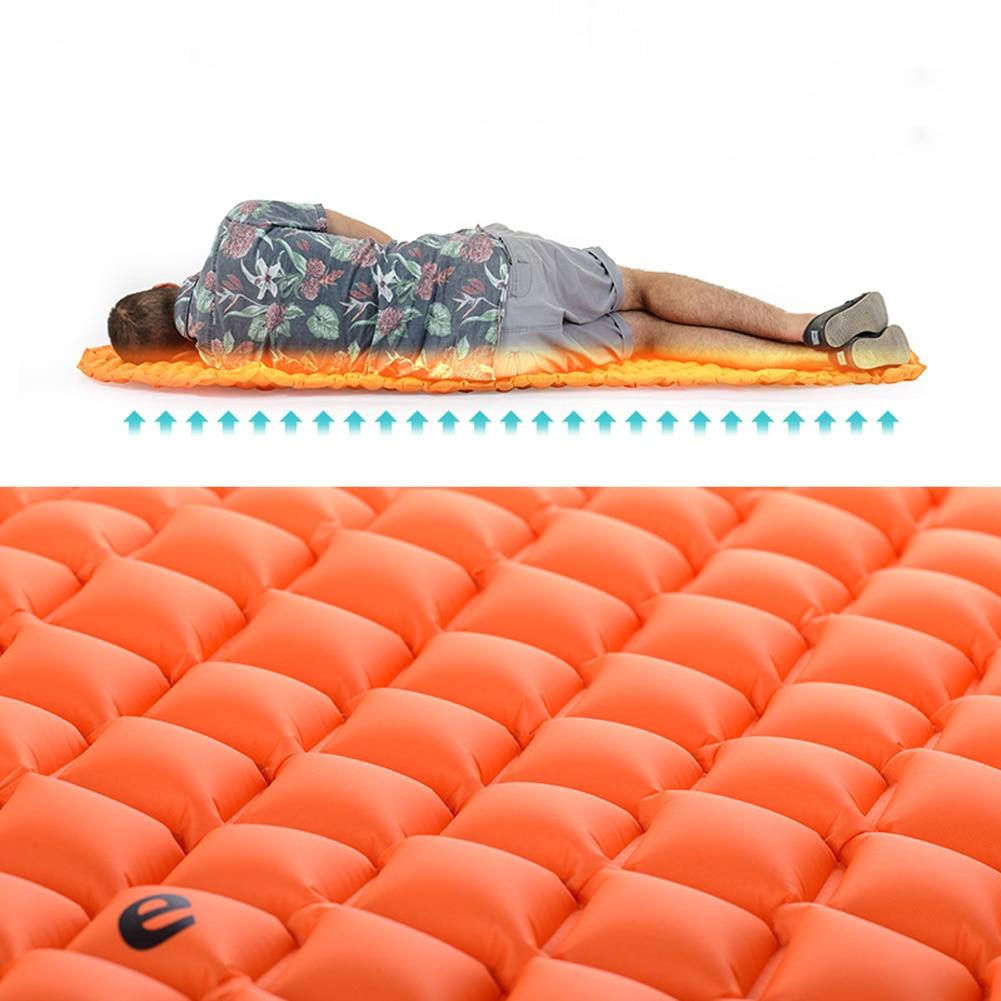 Green and Orange Utralight Camping Mat PU Inflating Mattress Single Outdoor Tent <font><b>Bed</b></font> Camp Pad Camping Mat 380g