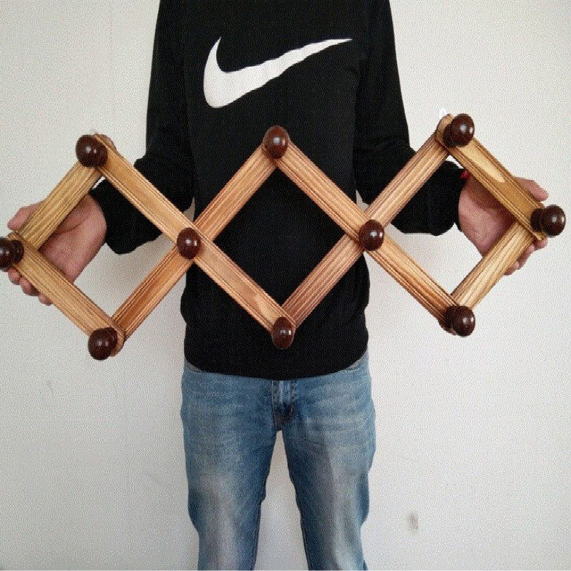 Image 5 - folding wood coat rack clothes rack stand hat clothing rack free shipping-in Coat Racks from Furniture