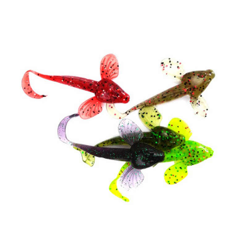 New Arrival! 6Pcs/lot Fishing Wobbler Soft Jigging 10cm 5.5g Fishing Long-tailed Lure Worm Swim Baits Colorful