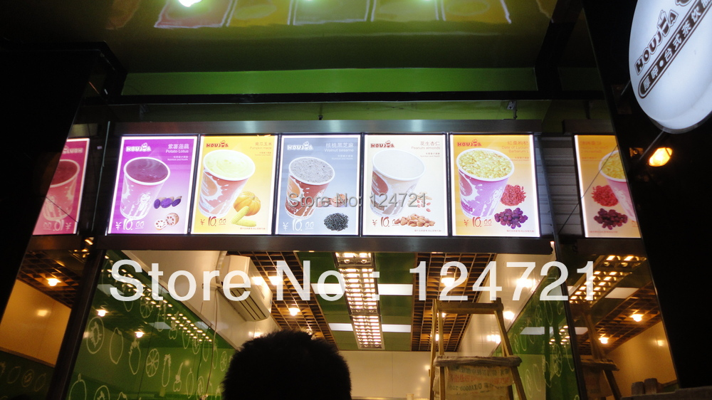 Display wall mounted a2 size open led display lightbox for the restaurant menu board or supermarkets advertising board