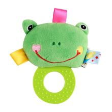 Baby Bite Rattles Ball Grasping Baby Ball Cute Plush Animal Cloth Hand Rattles Education Toys Infant Baby Bed Bell Sleeping Toys(China)