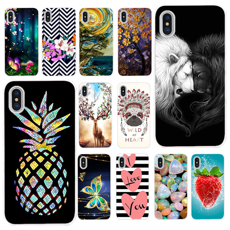 TAOYUNXI Cases For Apple <font><b>iPhone</b></font> X Case For <font><b>iPhone</b></font> XS <font><b>iPhone</b></font> 10 <font><b>iPhone</b></font> Ten <font><b>A1865</b></font> A1901 5.8 inch Soft Silicone Covers Painted Bags image