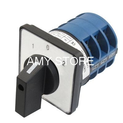 AC 660V 32A 12 Terminals (1-0-2) 3 Positions Rotary Selector Cam Changeover Switch SZW26-32/D303.3 ui660v ith125a 12 terminals 3p combination changeover switch lw28 125 3