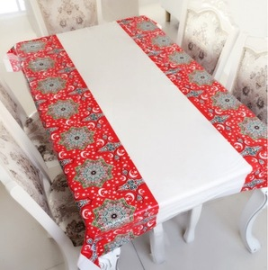 Image 2 - Muslim EID Disposable TableCloths Ramadan Table Cover Tablecloth Waterproof For Moslem Islamism Decoration 180*110cm 3 Styles