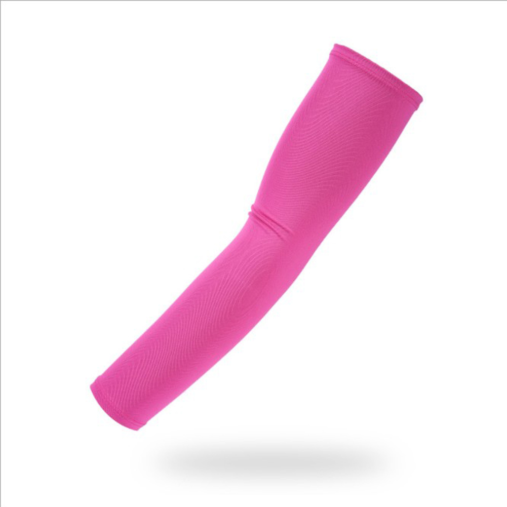 1 Pair Arm Sleeves Summer Cover Uv Sun Protection Arm Warmer Breathable Solid Color Unisex 2018 New Hot Sale Black Arm Sleeves