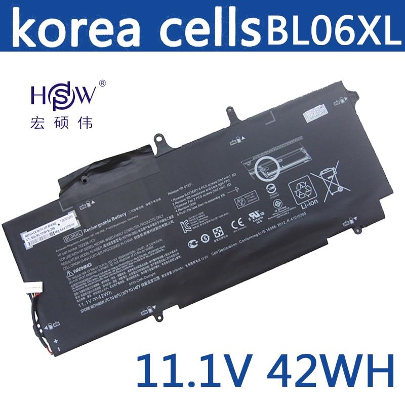 HSW New laptop batteries for HSTNN-DB5D,HSTNN-W02C,BL06XL,722236-2C1,EliteBook Folio 1040 G1,L7Z22PA, bateria