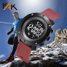 Multi-Function 30M Waterproof Watch LED Digital Double Action Watch Electronic Watch digital Watch fashion gif Men #8217 s watch D4 cheap Bowake 26 5cm SPORT Plastic Buckle 3Bar 15mm ROUND 25mm 2019 07 12 No package Digital Wristwatches 55mm Rubber Resin Water Resistant