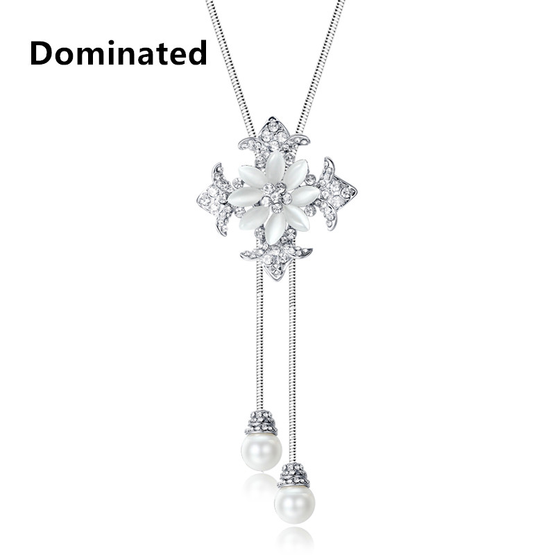 Dominated Accessories elegant crystal beaded necklace
