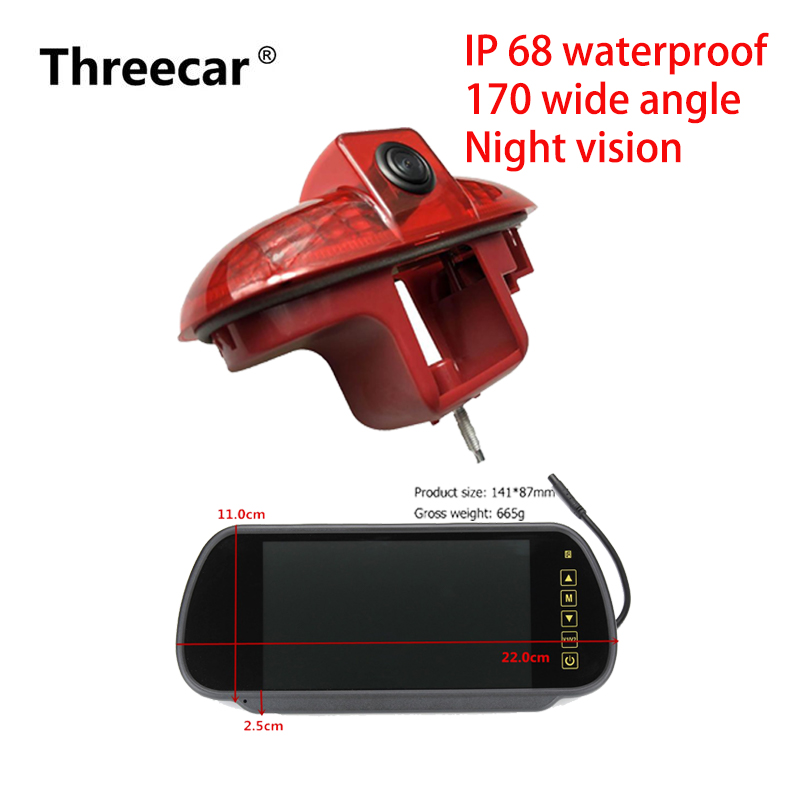 Car Brake Light Rear View Camera for Renault Trafic Combo//Vauxhall 2001-2014